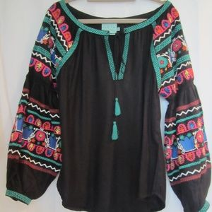 Judith March Small Embroidered Bishop Sleeve Tunic